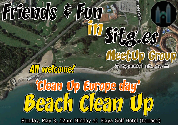 'Clean Plastic off Europe Beaches' Weekend -Sunday for Sitges