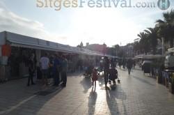 Film Festival Market Stands Sitges